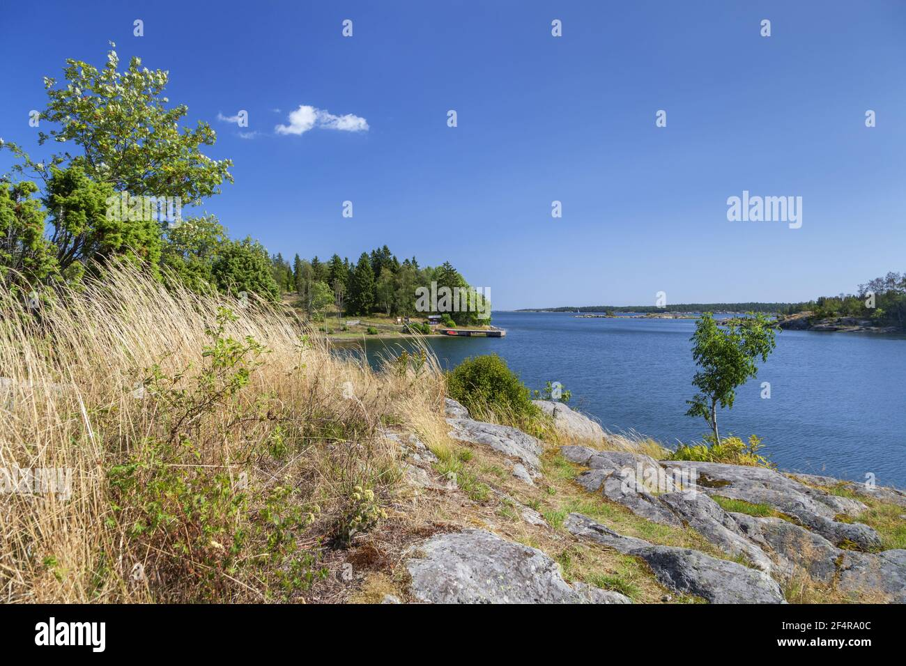 geography / travel, Sweden, Stockholm laen, Stockholm skaergård, view towards the Baltic Sea of the is, Additional-Rights-Clearance-Info-Not-Available Stock Photo