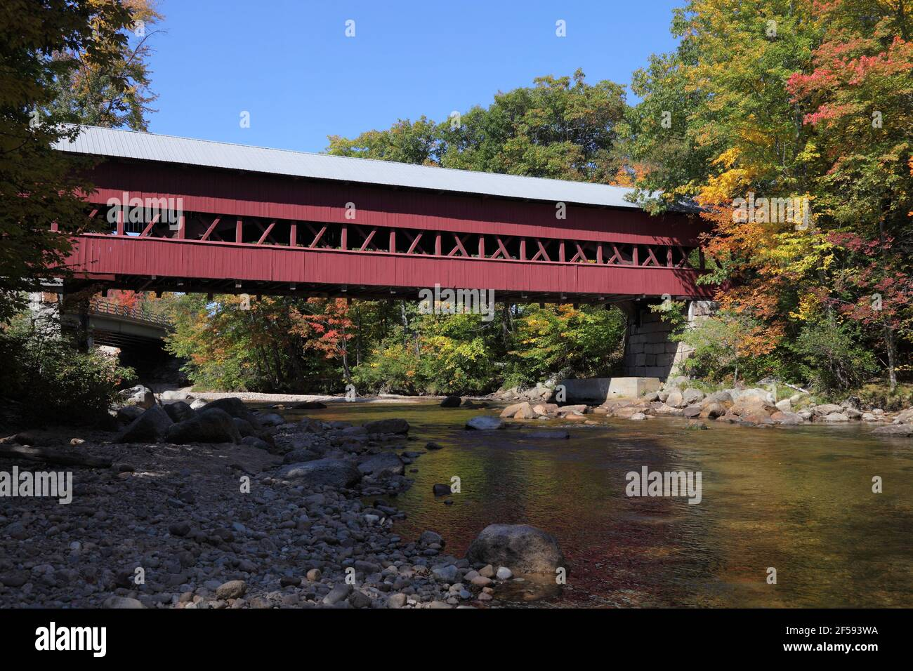 geography / travel, USA, New Hampshire, Conway, Swift River Covered Bridge 1869, White Mountain, Additional-Rights-Clearance-Info-Not-Available Stock Photo
