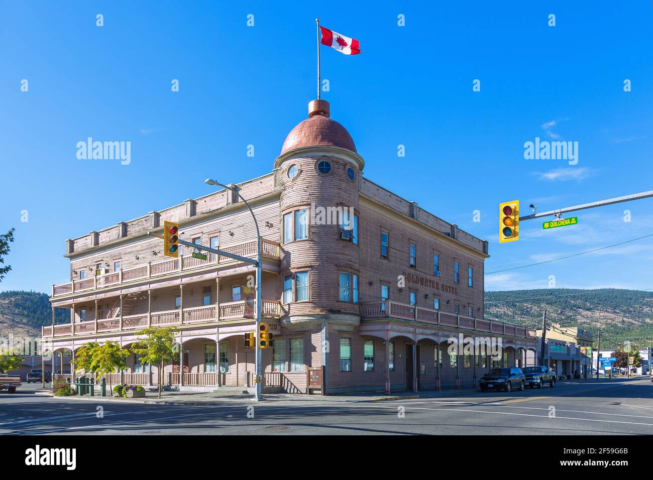 geography / travel, Canada, Merritt, Coldwater hotel, Quilchena Avenue, Additional-Rights-Clearance-Info-Not-Available Stock Photo