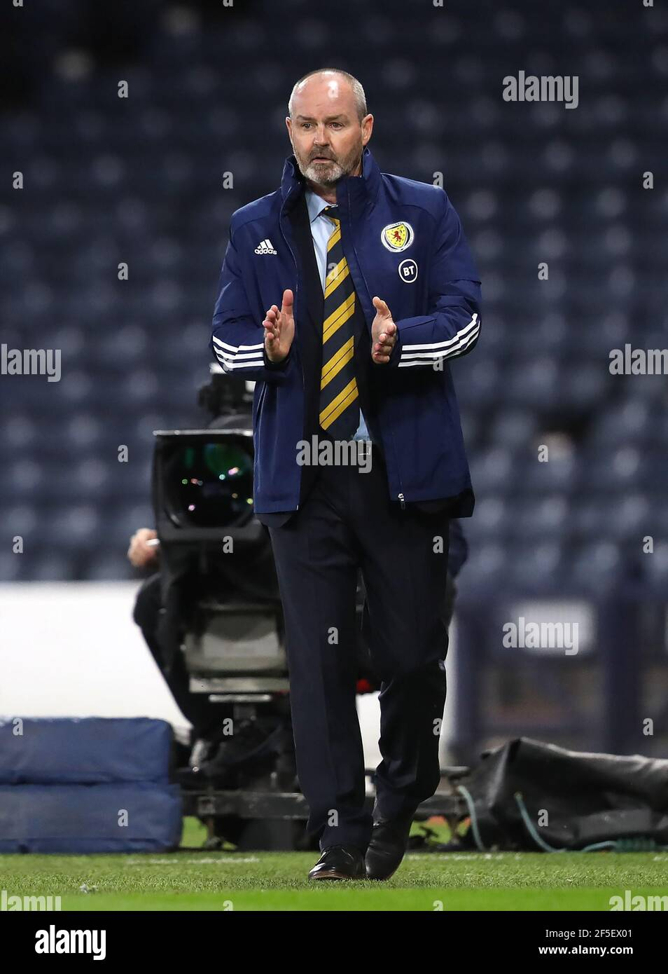 File photo dated 04-09-2020 of Scotland manager Steve Clarke. Issue date: Friday March 26, 2021. Stock Photo