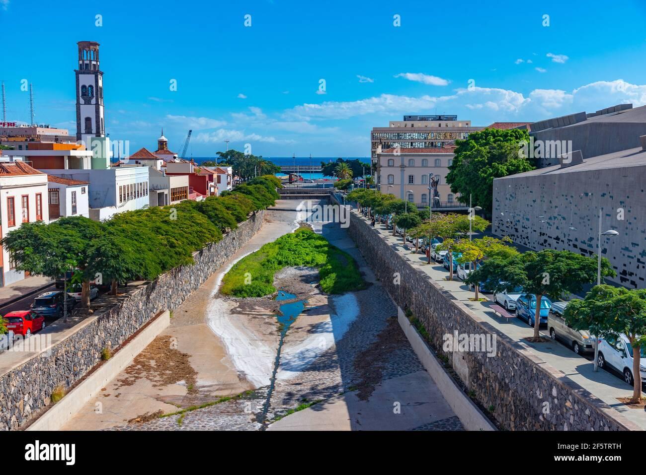 Barranco de Santos at Santa Cruz de Tenerife, Canary islands, Spain. Stock Photo