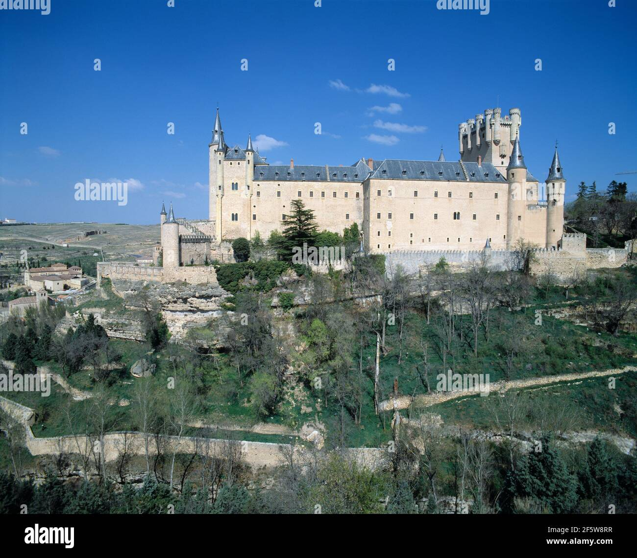Spain. Segovia. Alcazar. Fortified Palace. Stock Photo