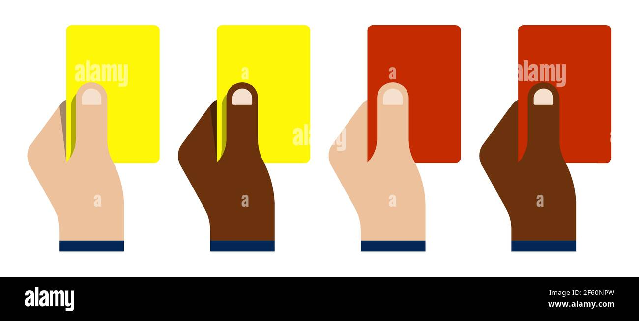 Red Yellow Soccer Card Cartoon High Resolution Stock Photography In Soccer Referee Game Card Template