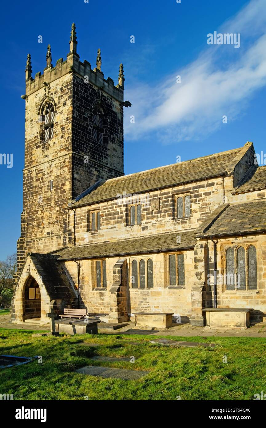 UK, West Yorkshire, Wakefield, Felkirk, St Peter's Church Stock Photo