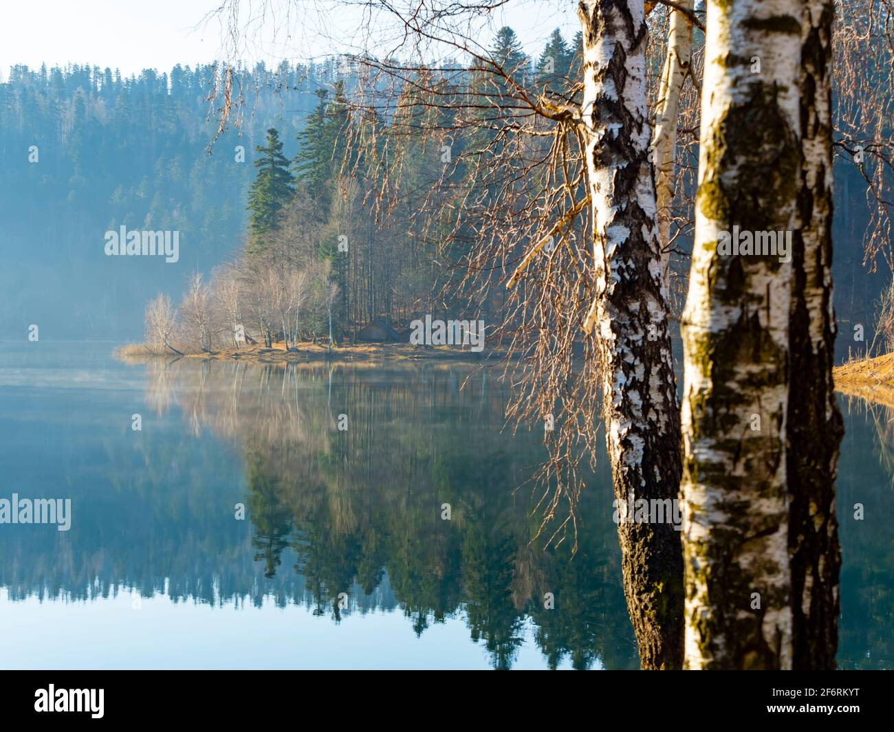 Lokve lake in Croatia Europe Stock Photo