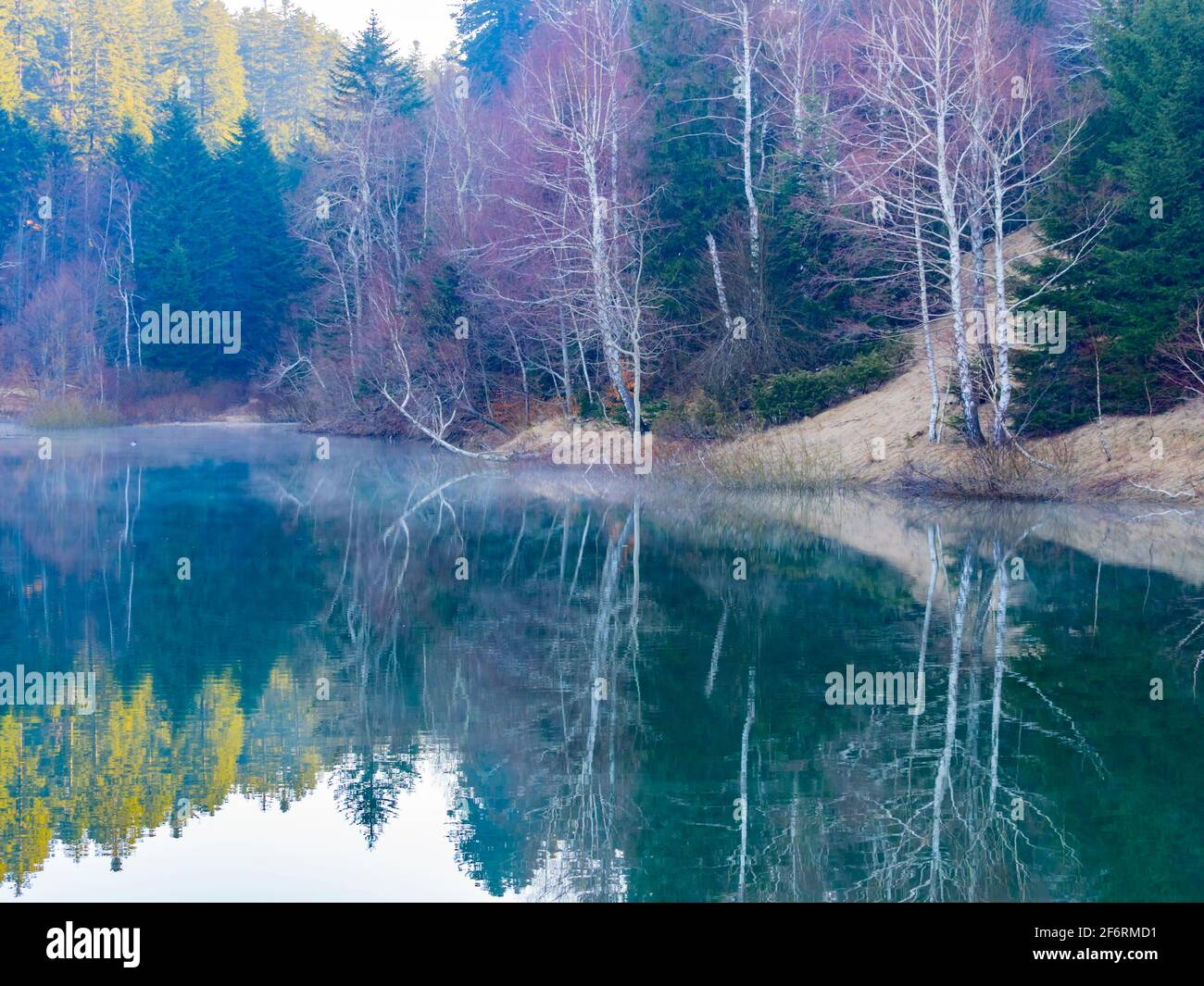 Picturesque peaceful tranquility Lokve lake in Croatia Europe Stock Photo