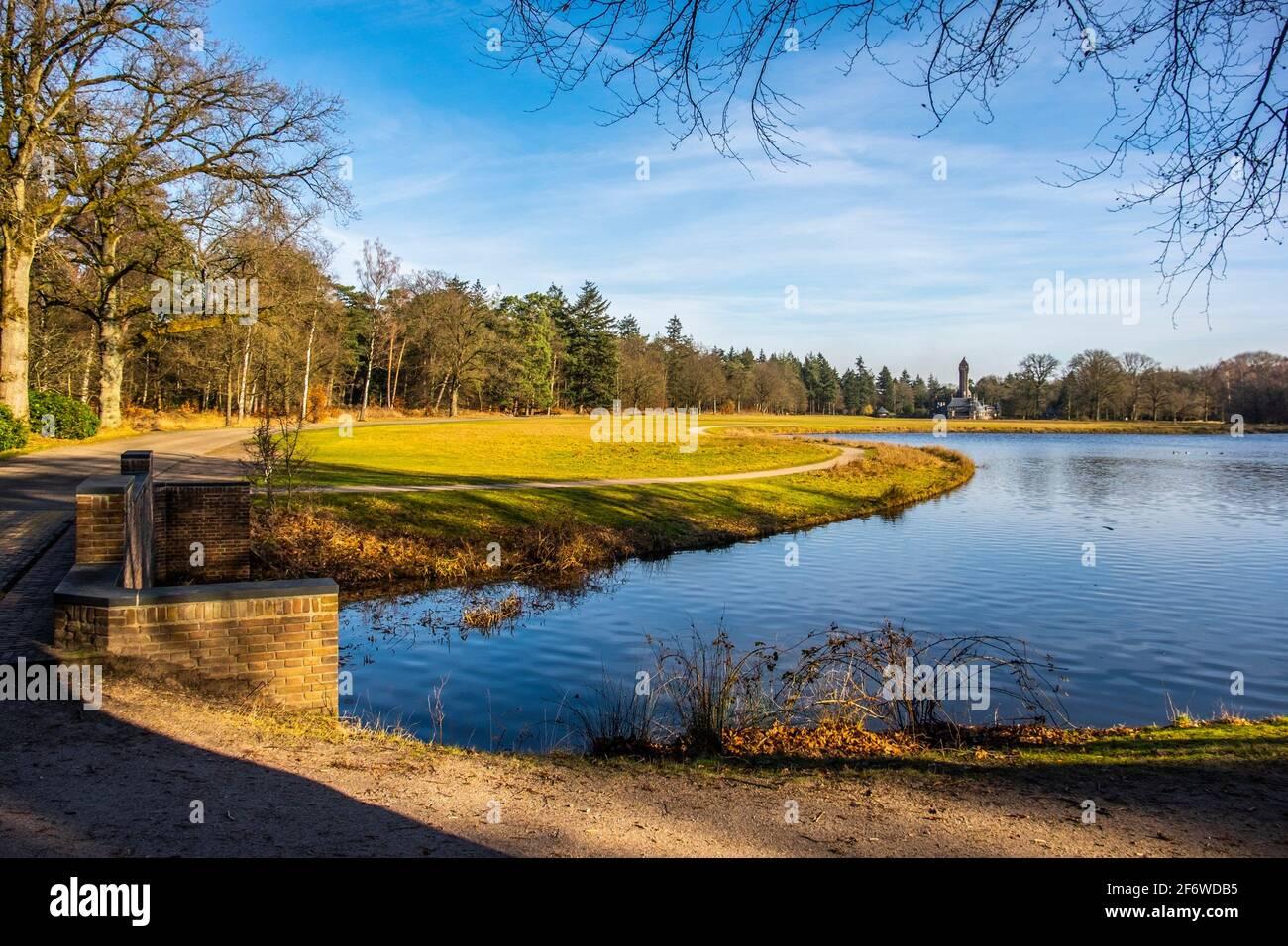 Jachthuis Saint Hubertus, National Park Hoge Veluwe, Gelderland, The Netherlands, Europe. Stock Photo