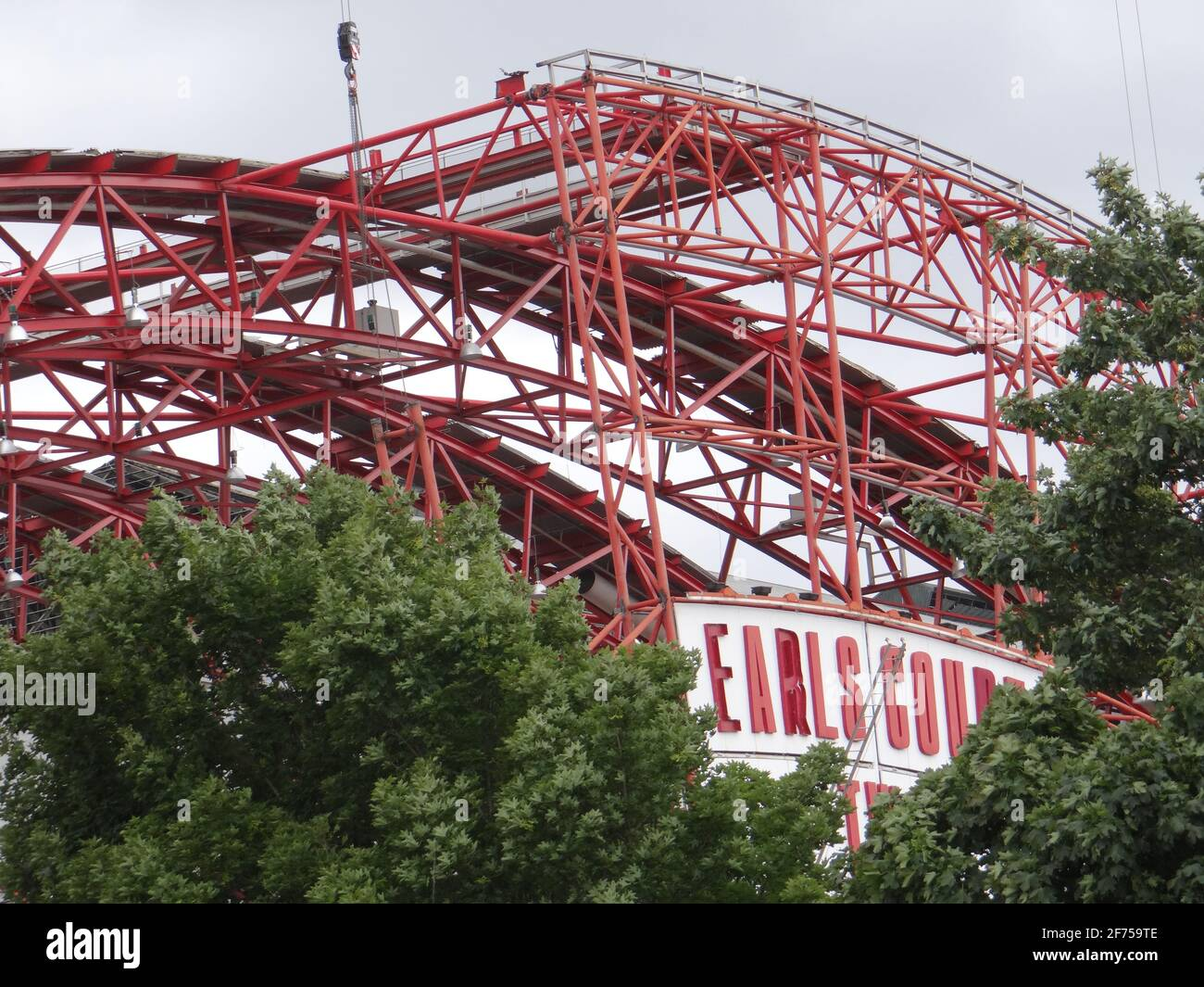 Demolishing Earl's court TWO exhibition centre in London, UK Stock Photo