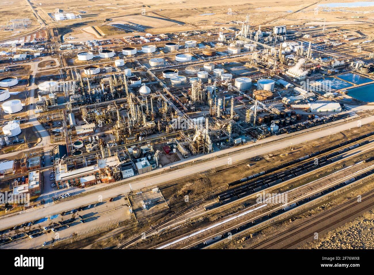 Sinclair Oil Refinery, Sinclair, Wyoming, USA Stock Photo