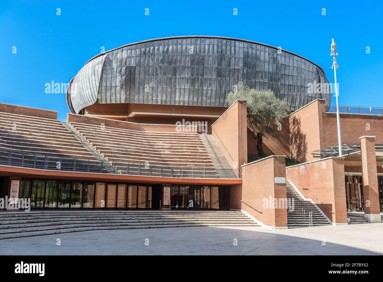 Auditorium Parco della Musica is a large multi-functional public music complex, designed by Italian architect Renzo Piano, Rome, Lazio, Italy, Europe Stock Photo