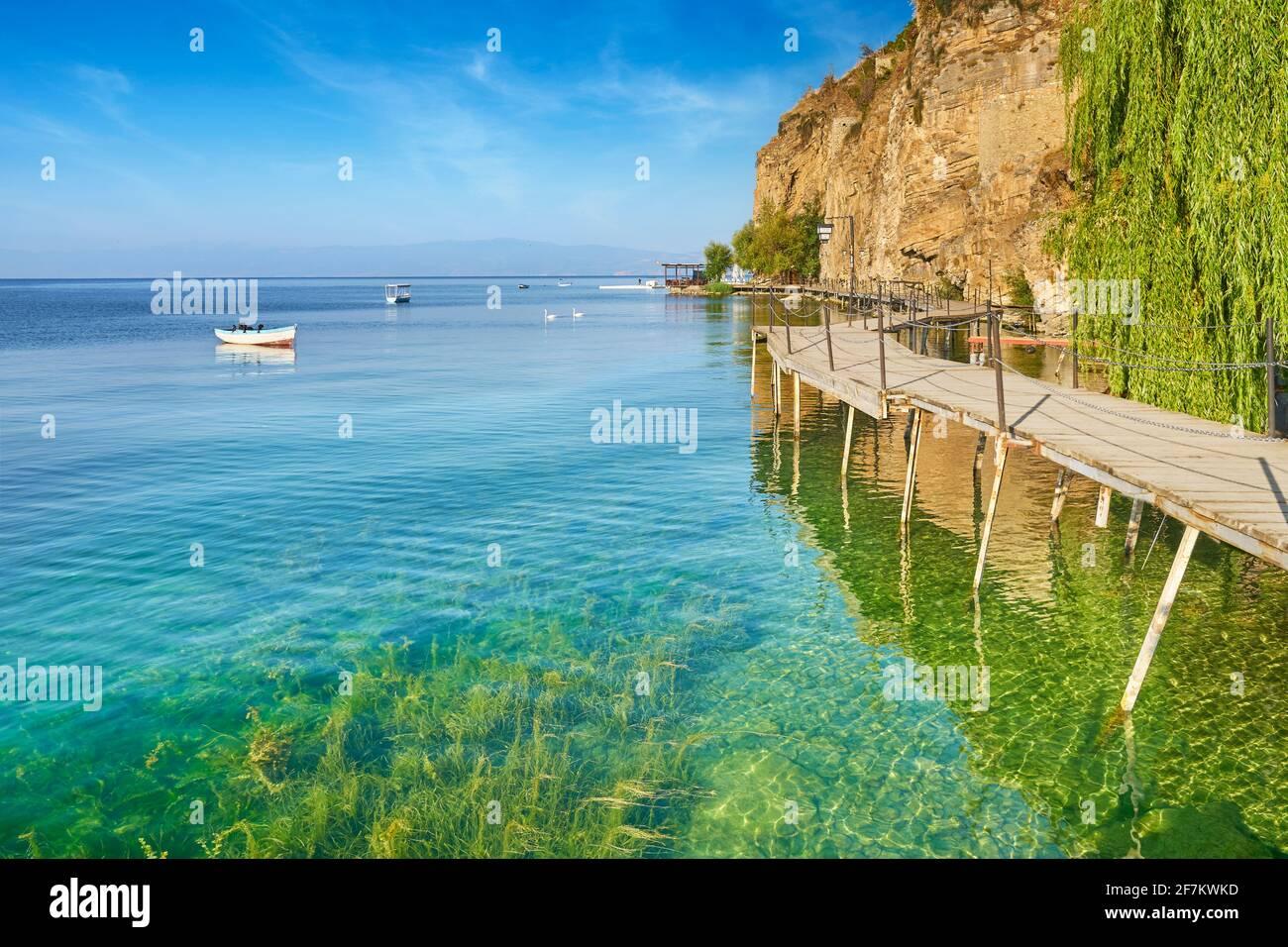 Ohrid Lake, Macedonia, Balkans Stock Photo