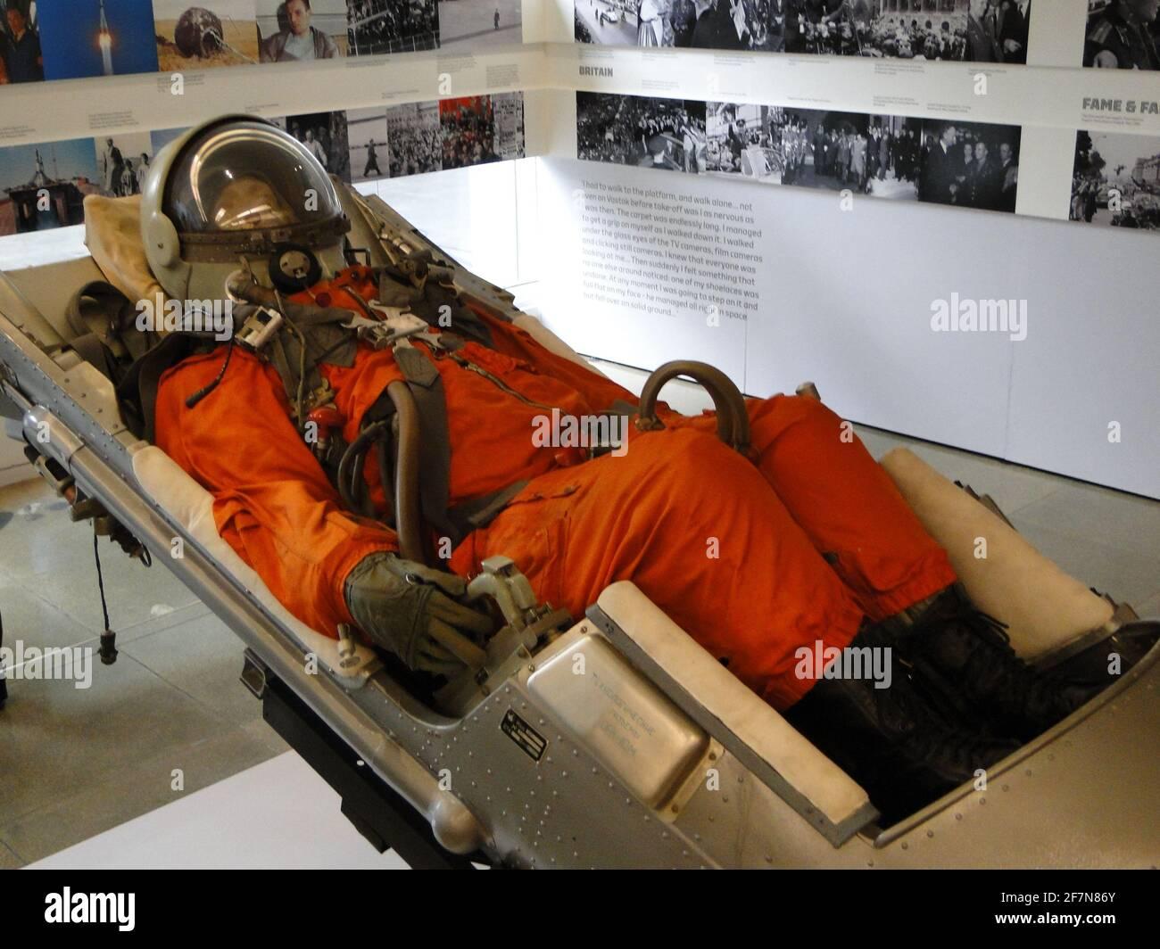 Unveiling the statue to Yuri Gagarin - the first man in cosmos at British Council building in London, UK Stock Photo