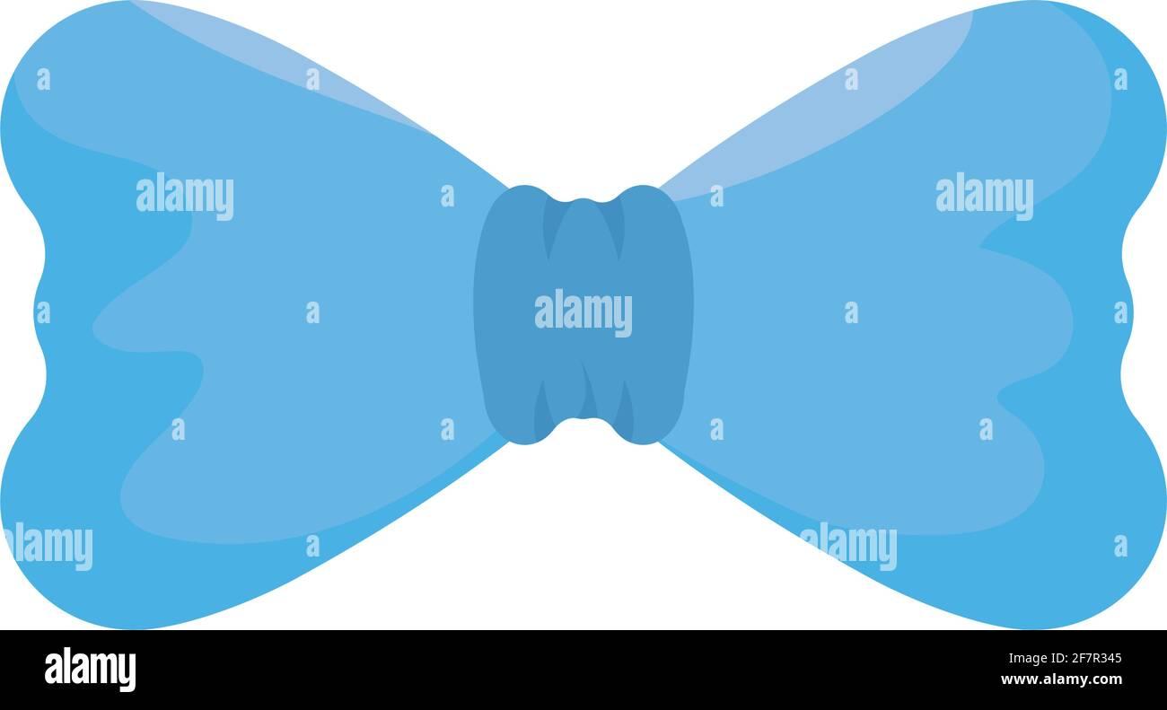 blue bow tie Stock Vector