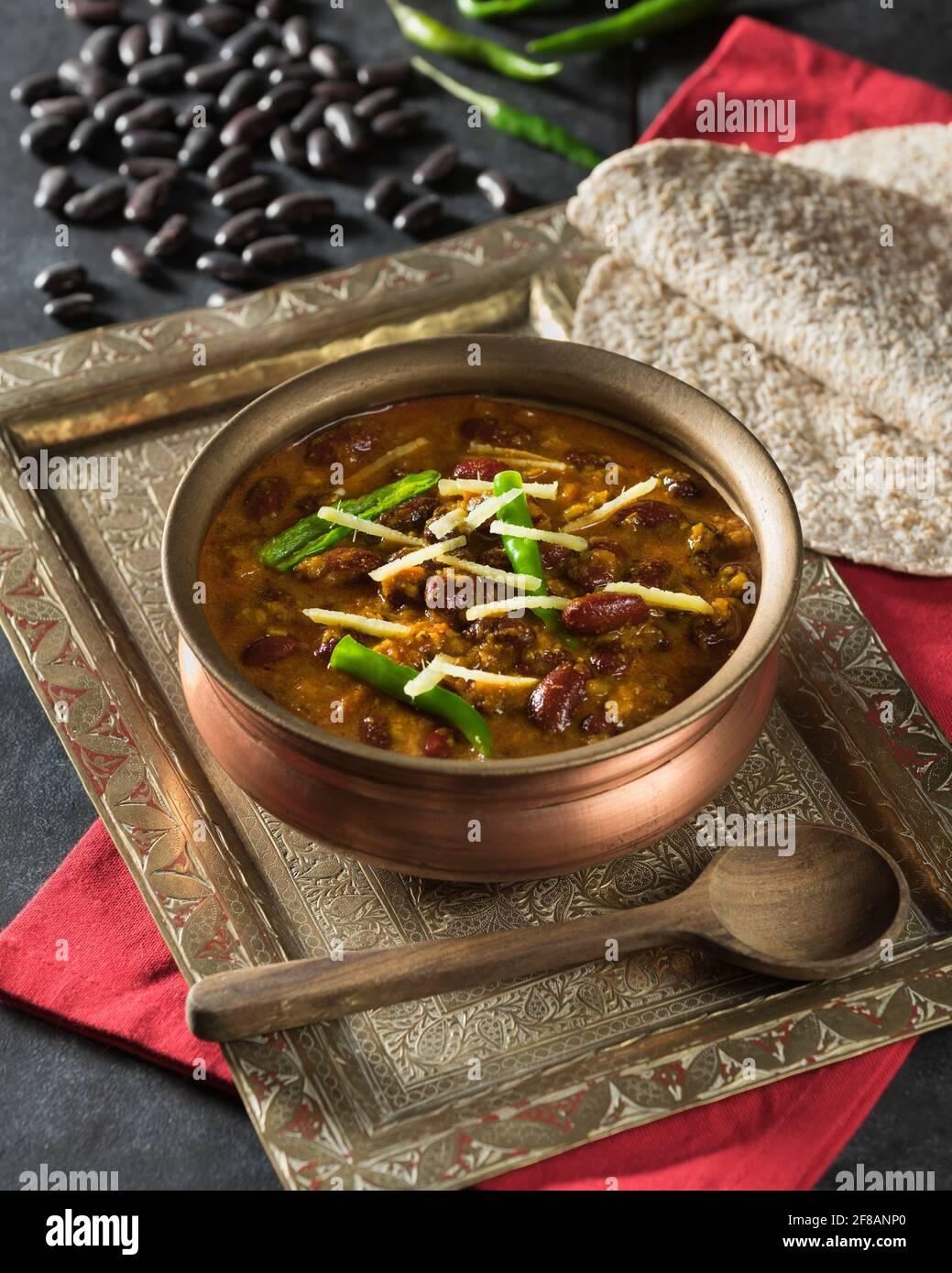 Rajma masala. Red kidney bean curry. India Food Stock Photo