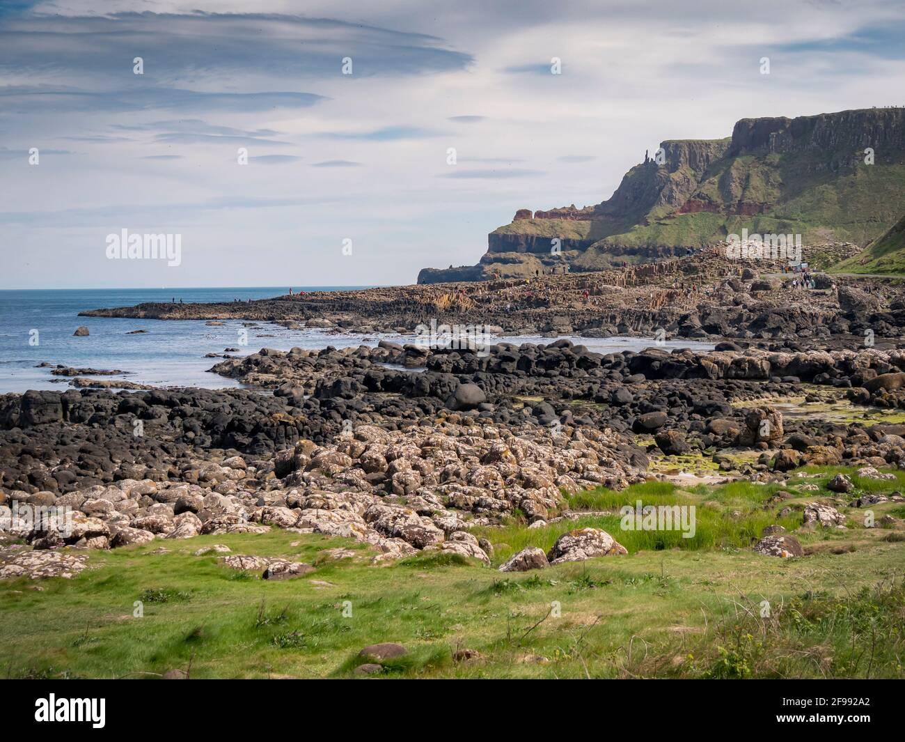 Beautiful Giants Causeway Coast in Northern Ireland - travel photography Stock Photo