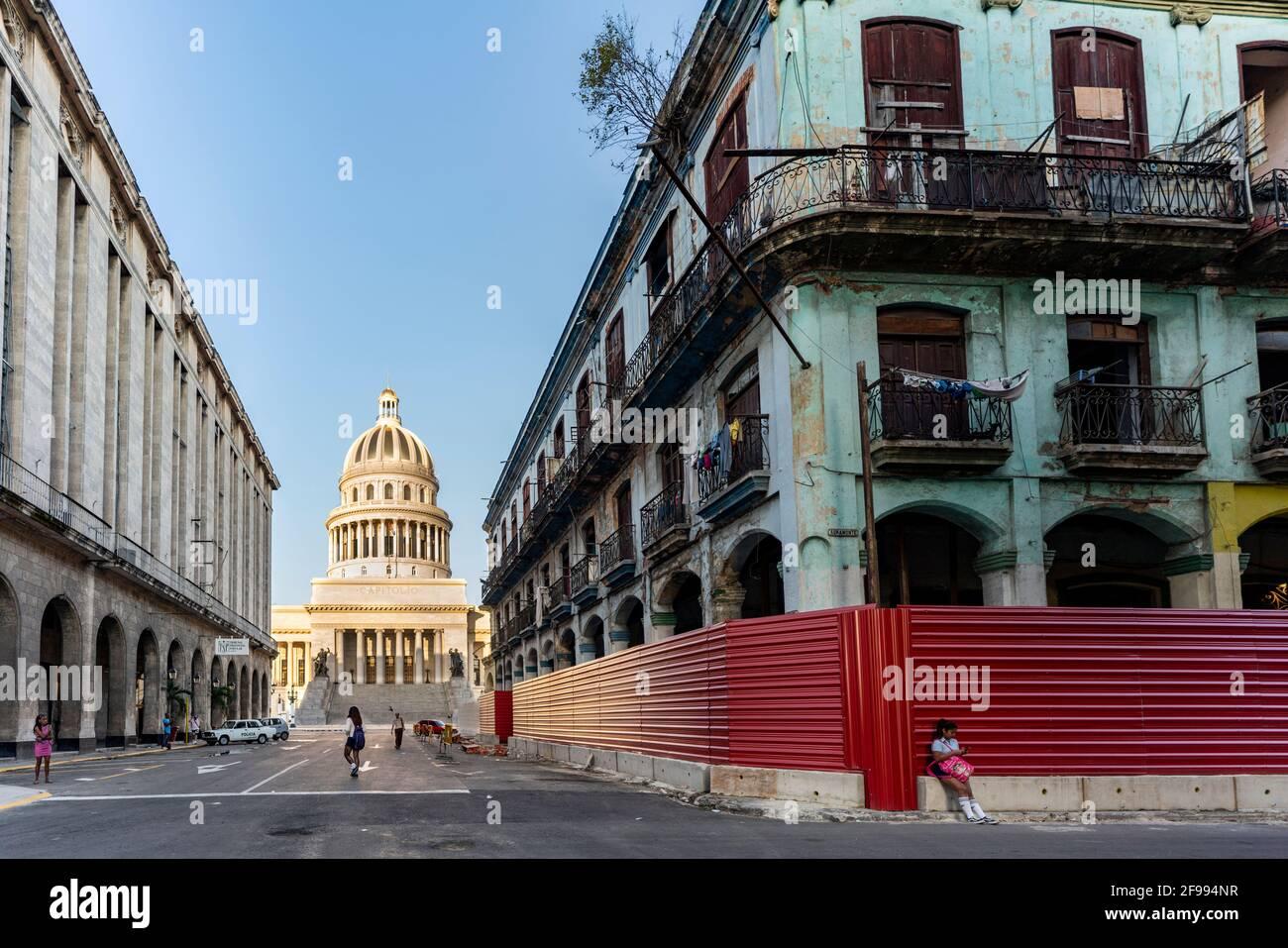 Capitol Havana in the Centro district, Havana Province, Cuba Stock Photo