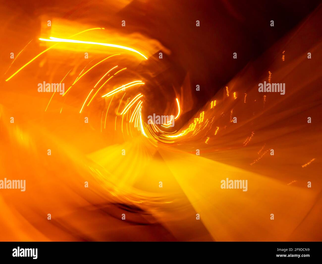 Frantic furious driving warm warmth Red Yellow Orange vivid intensive colors Stock Photo
