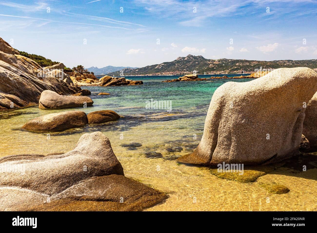 Weather Sculpted Rocks, Golfo di Arzachena, Clear Mediterranean ...