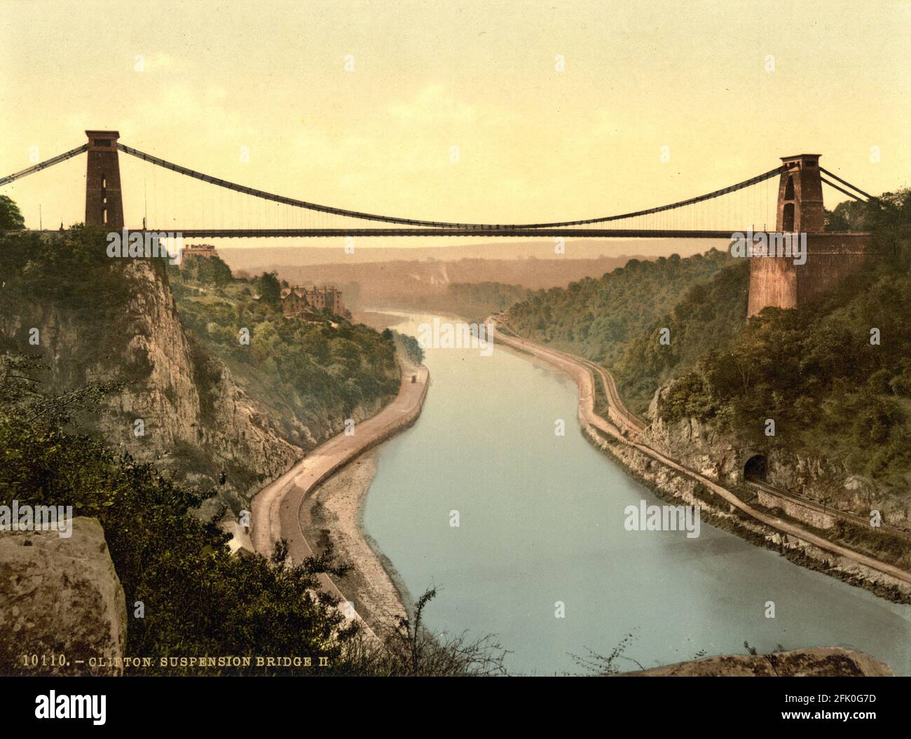 Clifton Suspension Bridge near Bristol circa 1890-1900 Stock Photo