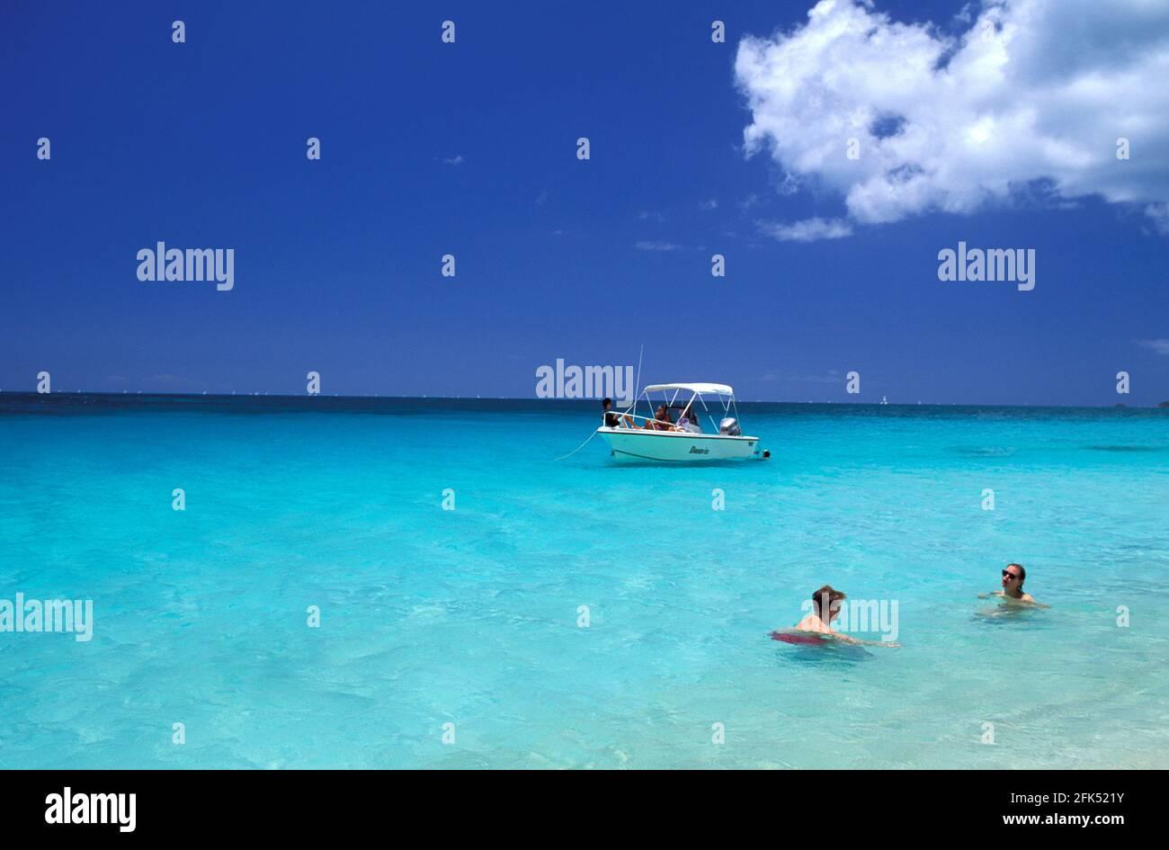 Caribbean, West Indies, Antigua, Darkwood Beach, Stock Photo