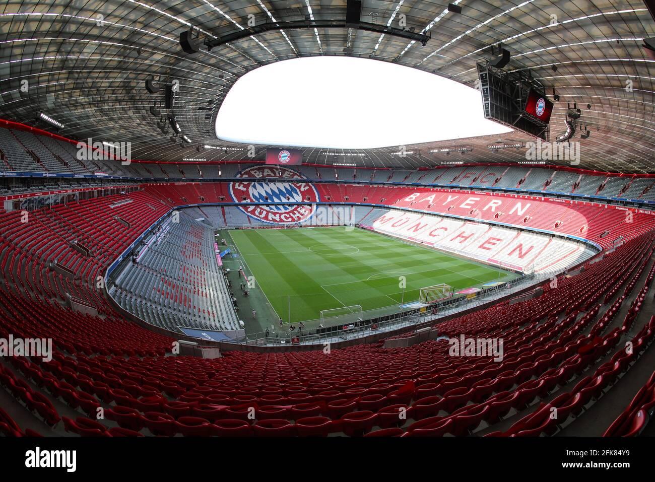 Stadion Allianz Arena in Muenchen Froettmaning for the UEFA Euro 2020 / 2021 football European Championship   Football Stadium from FC Bayern Munich  © diebilderwelt / Alamy Stock Stock Photo