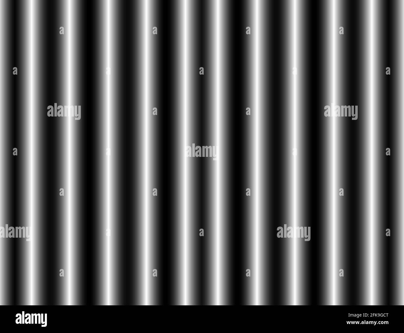 Abstract advertising background, decorative horizontal black white silver gradient dynamic decorative periodic wave wall Stock Photo