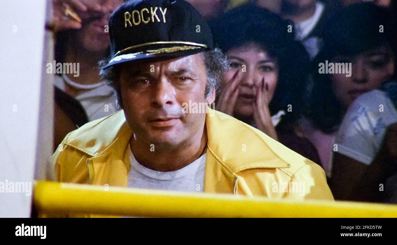 USA. Burt Young  in a scene from (C) MGM/UA film: Rocky III (1982). Plot: After winning the ultimate title and being the world champion, Rocky falls into a hole and finds himself picked up by a former enemy.   Ref: LMK110-J7064-290421 Supplied by LMKMEDIA. Editorial Only. Landmark Media is not the copyright owner of these Film or TV stills but provides a service only for recognised Media outlets. pictures@lmkmedia.com Stock Photo