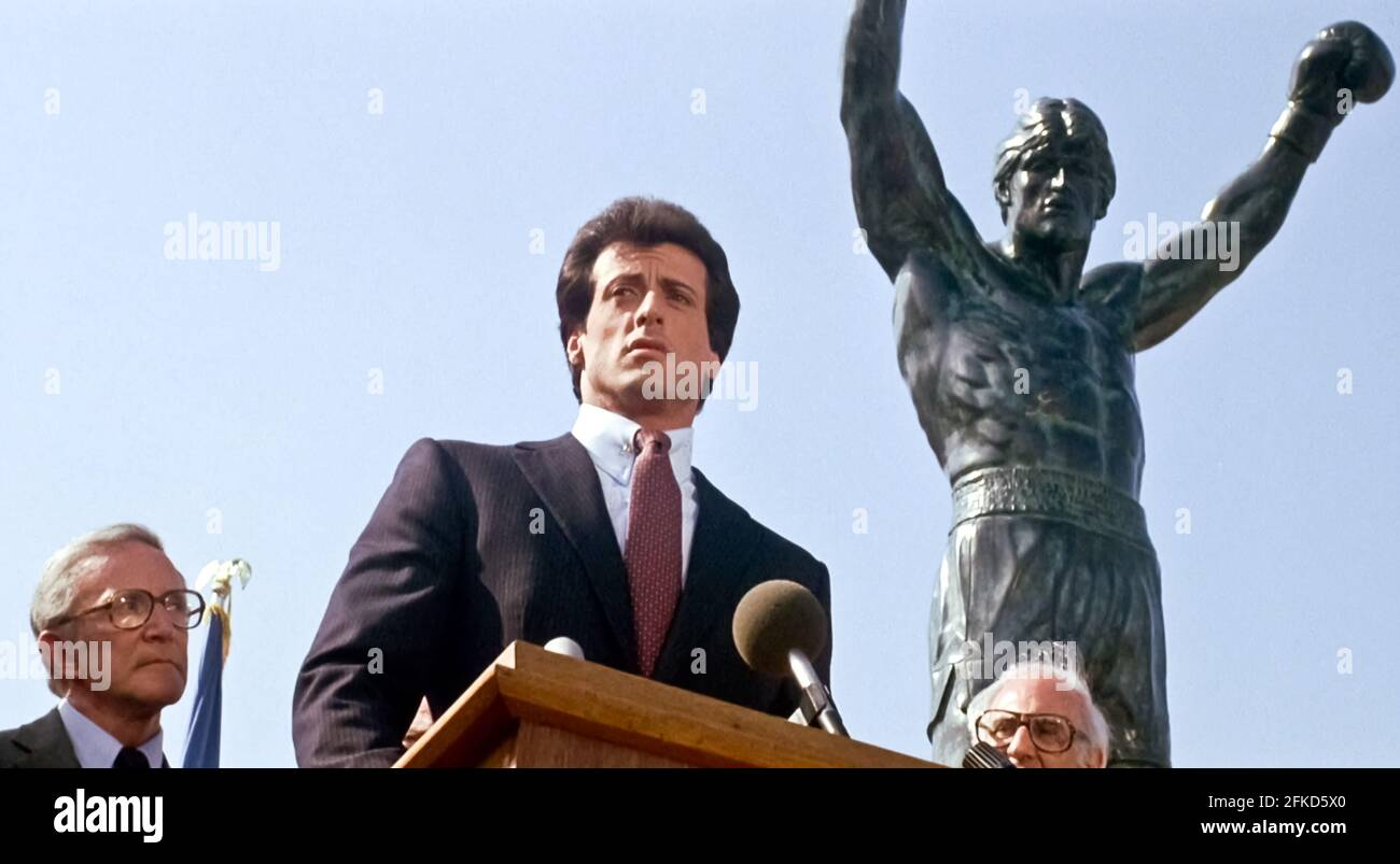 USA. Sylvester Stallone  in a scene from (C) MGM/UA film: Rocky III (1982). Plot: After winning the ultimate title and being the world champion, Rocky falls into a hole and finds himself picked up by a former enemy.   Ref: LMK110-J7064-290421 Supplied by LMKMEDIA. Editorial Only. Landmark Media is not the copyright owner of these Film or TV stills but provides a service only for recognised Media outlets. pictures@lmkmedia.com Stock Photo