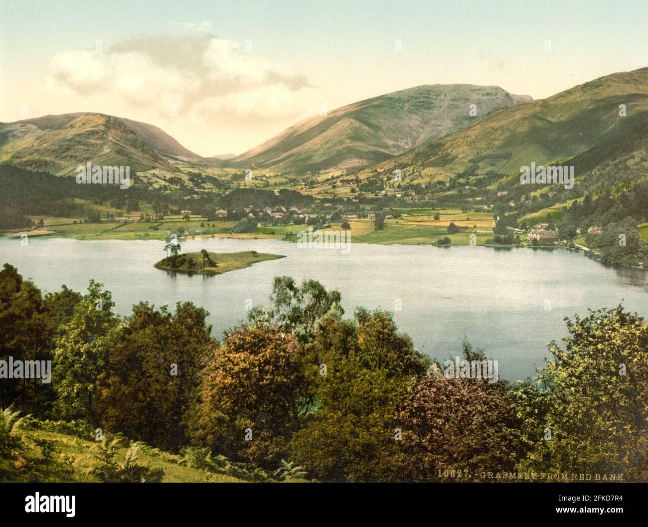 Grasmere in The Lake District, Cumbria circa 1890-1900 Stock Photo