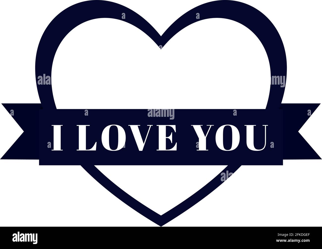 i love you Stock Vector