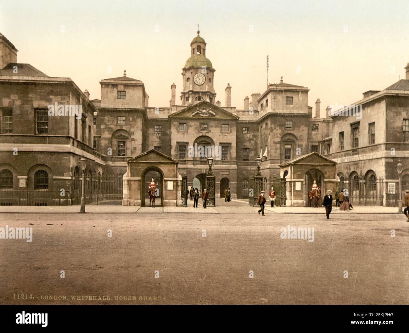 Horse Guards Parade, Whitehall, London circa 1890-1900 Stock Photo