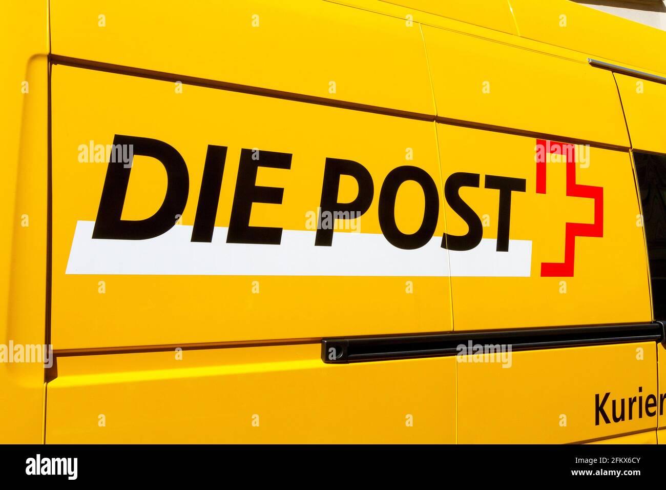 Post, Switzerland Stock Photo