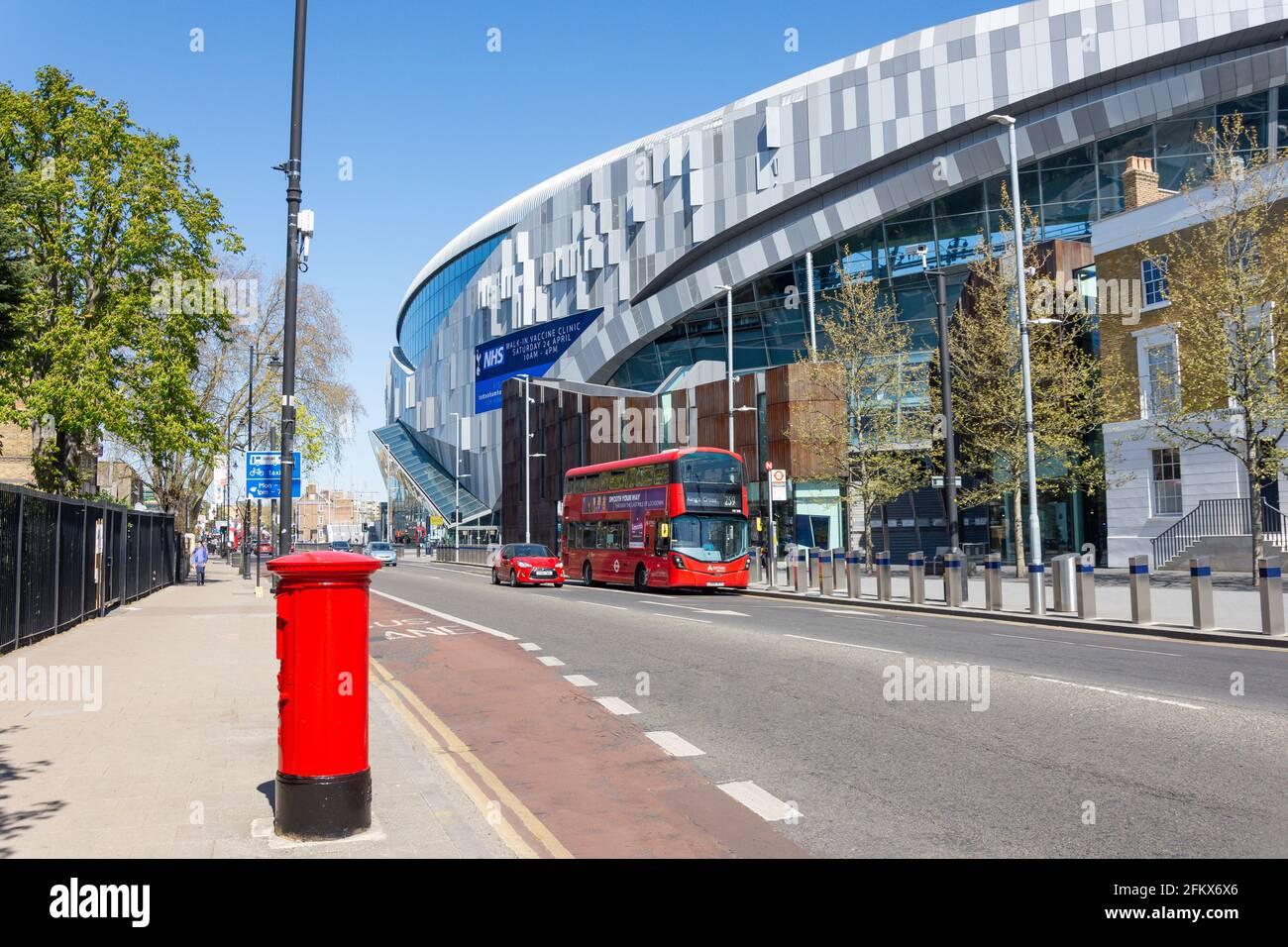 New White Hart Lane Stadium, High Street, Tottenham, London Borough of Haringey, Greater London, England, United Kingdom Stock Photo