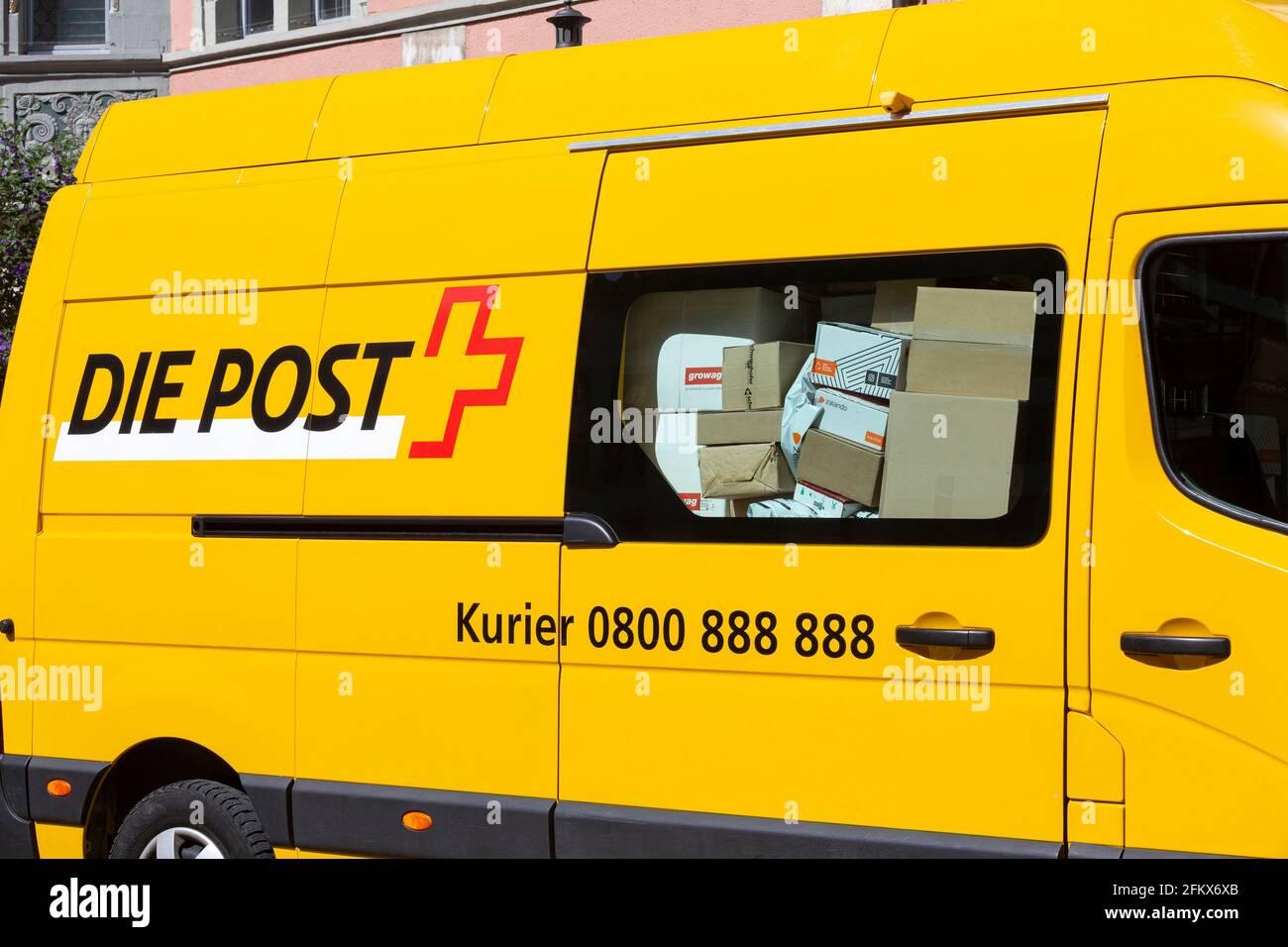 Postbus, Swiss Post Stock Photo