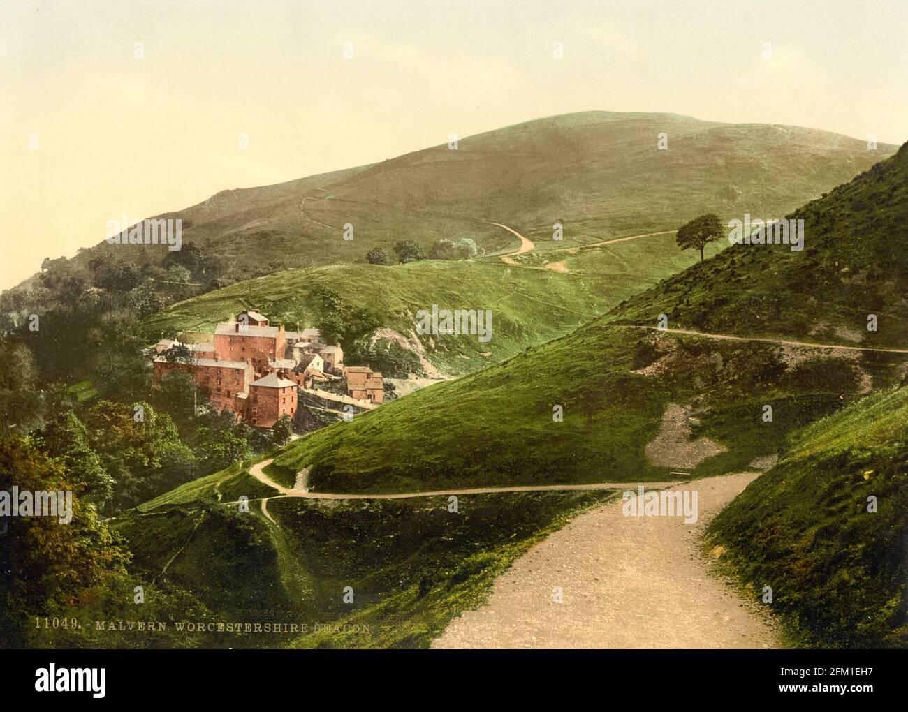 Malvern Hills in Worcestershire circa 1890-1900 Stock Photo