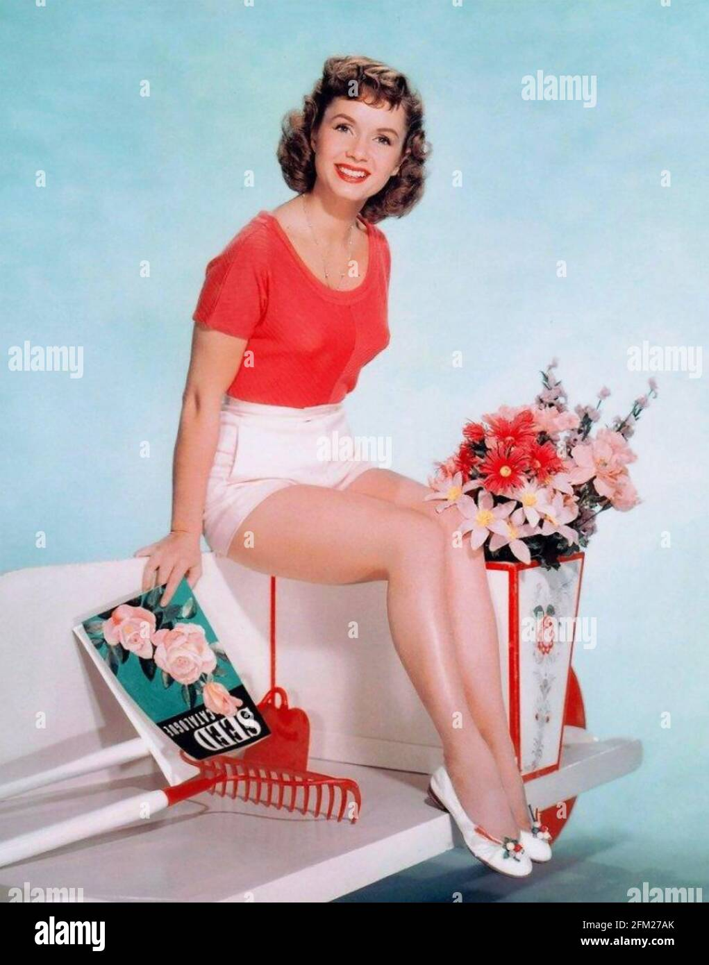 DEBBIE REYNOLDS (1932-2016) American film actress and singer about 1960 Stock Photo