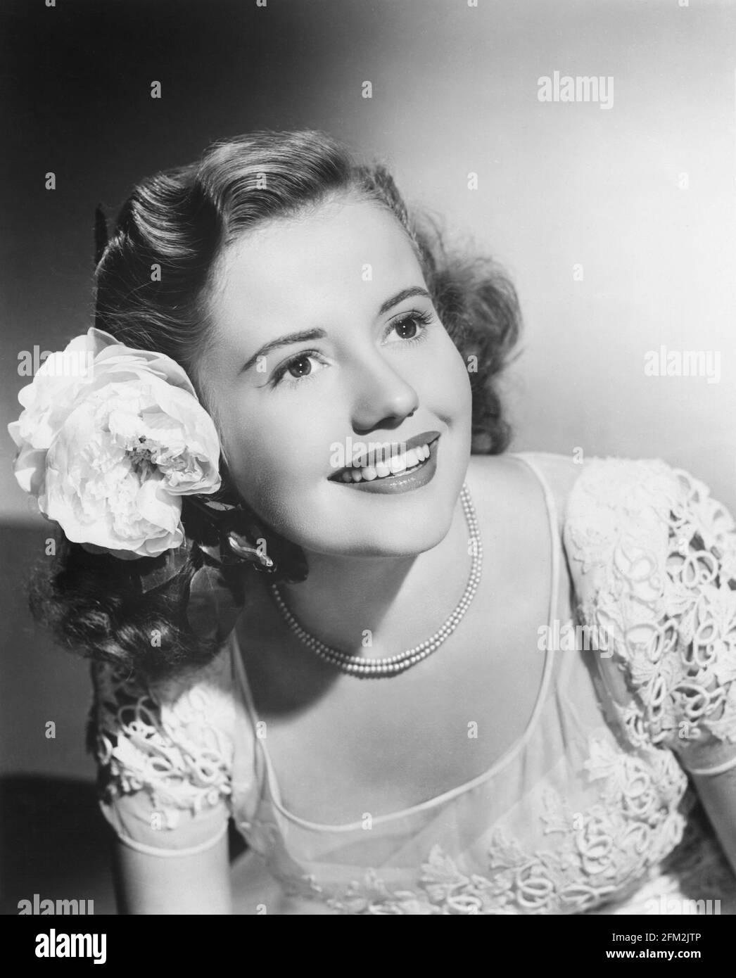Joyce Reynolds Emerging from Pool in 1950 Film Girl\u2019s School Vintage Photo Original Print.