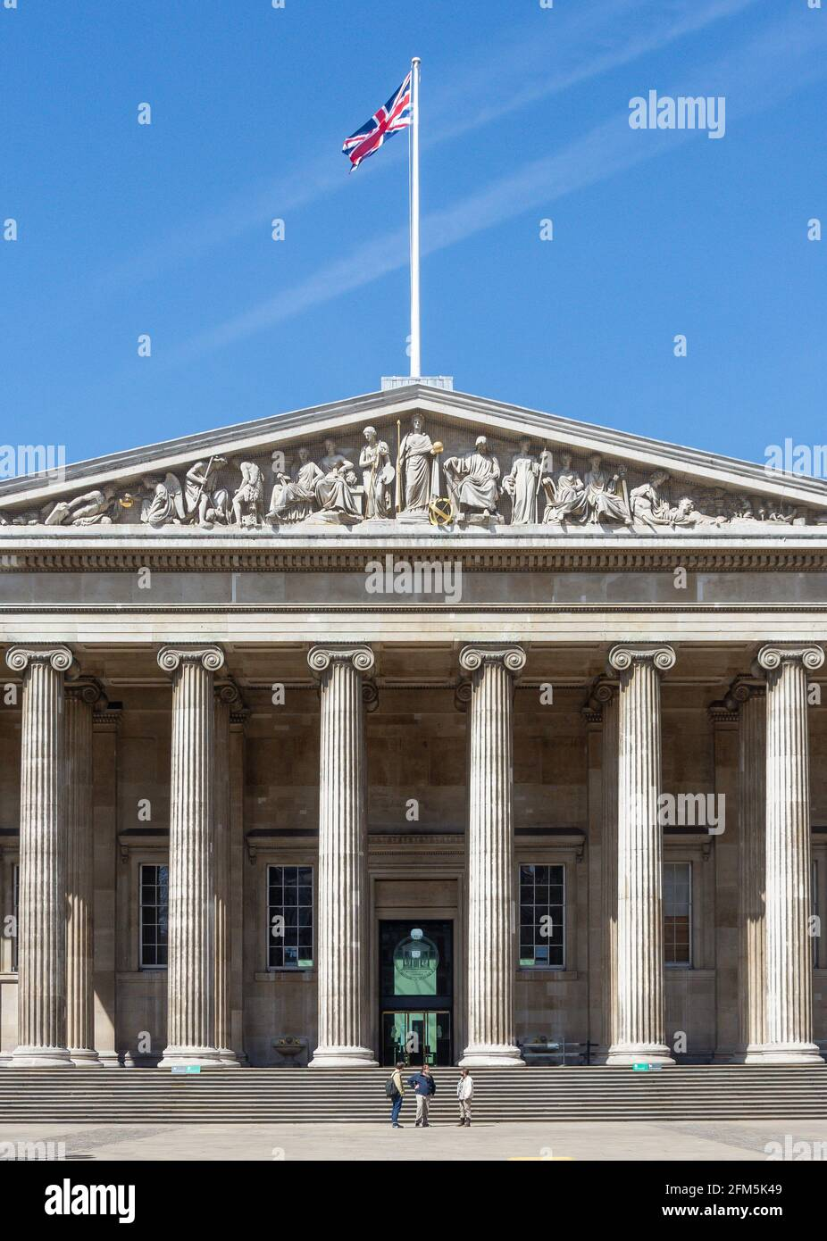 Main entrance, The British Museum, Great Russell Street, Bloomsbury, Greater London, England, United Kingdom Stock Photo