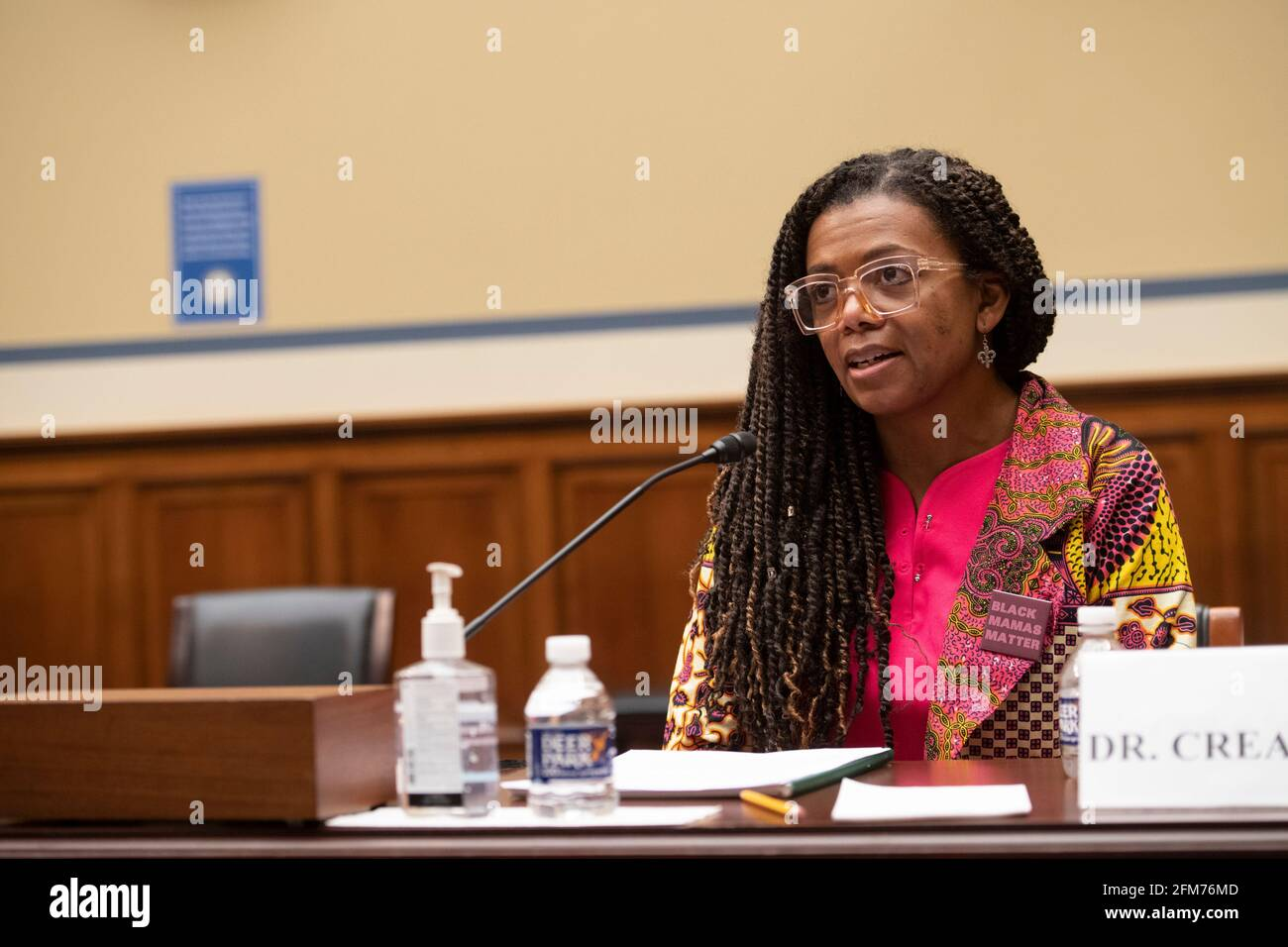 """Joia Adele Crear-Perry, M.D., FACOG, Founder and President, National Birth Equity Collaborative, appears before a House Committee on Oversight and Reform hearing """"Birthing While Black: Examining Americas Black Maternal Health Crisis"""" in the Rayburn House Office Building in Washington, DC, Thursday, May 6, 2021. Credit: Rod Lamkey/CNP /MediaPunch Stock Photo"""