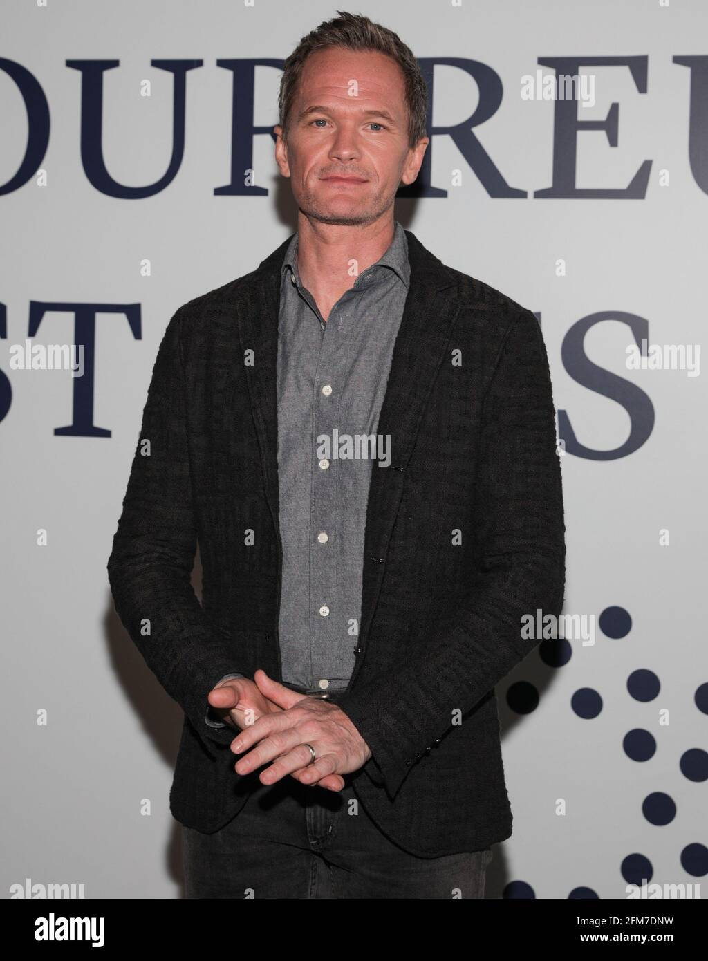 East Rutherford, NJ, USA. 6th May, 2021. Neil Patrick Harris Photo Call for CLEAR Brings Together Over 100 Family Members Separated During COVID to Reunite for the First Time, MetLife Stadium, East Rutherford, NJ May 6, 2021. Credit: CJ Rivera/Everett Collection/Alamy Live News Stock Photo
