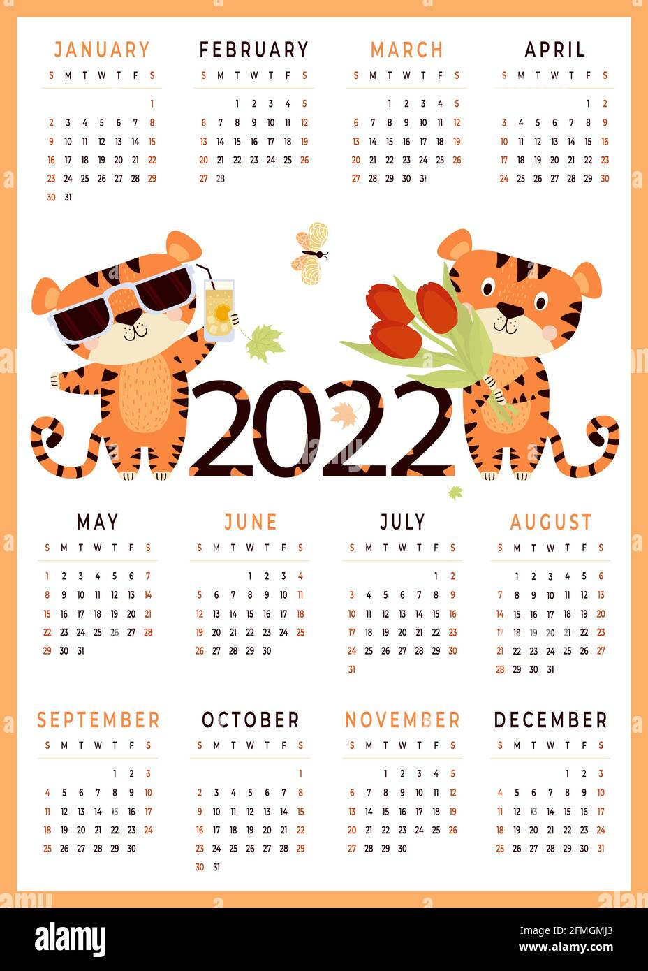 Lunisolar Calendar 2022.Year 2022 Vector Vectors High Resolution Stock Photography And Images Alamy