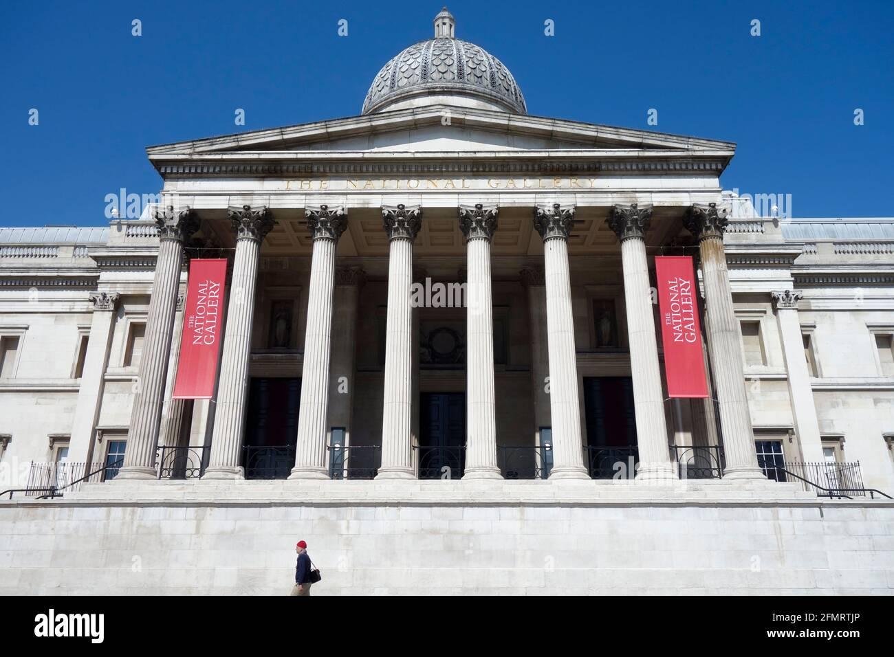 The National Gallery, Trafalgar Square, London, United Kingdom. Stock Photo