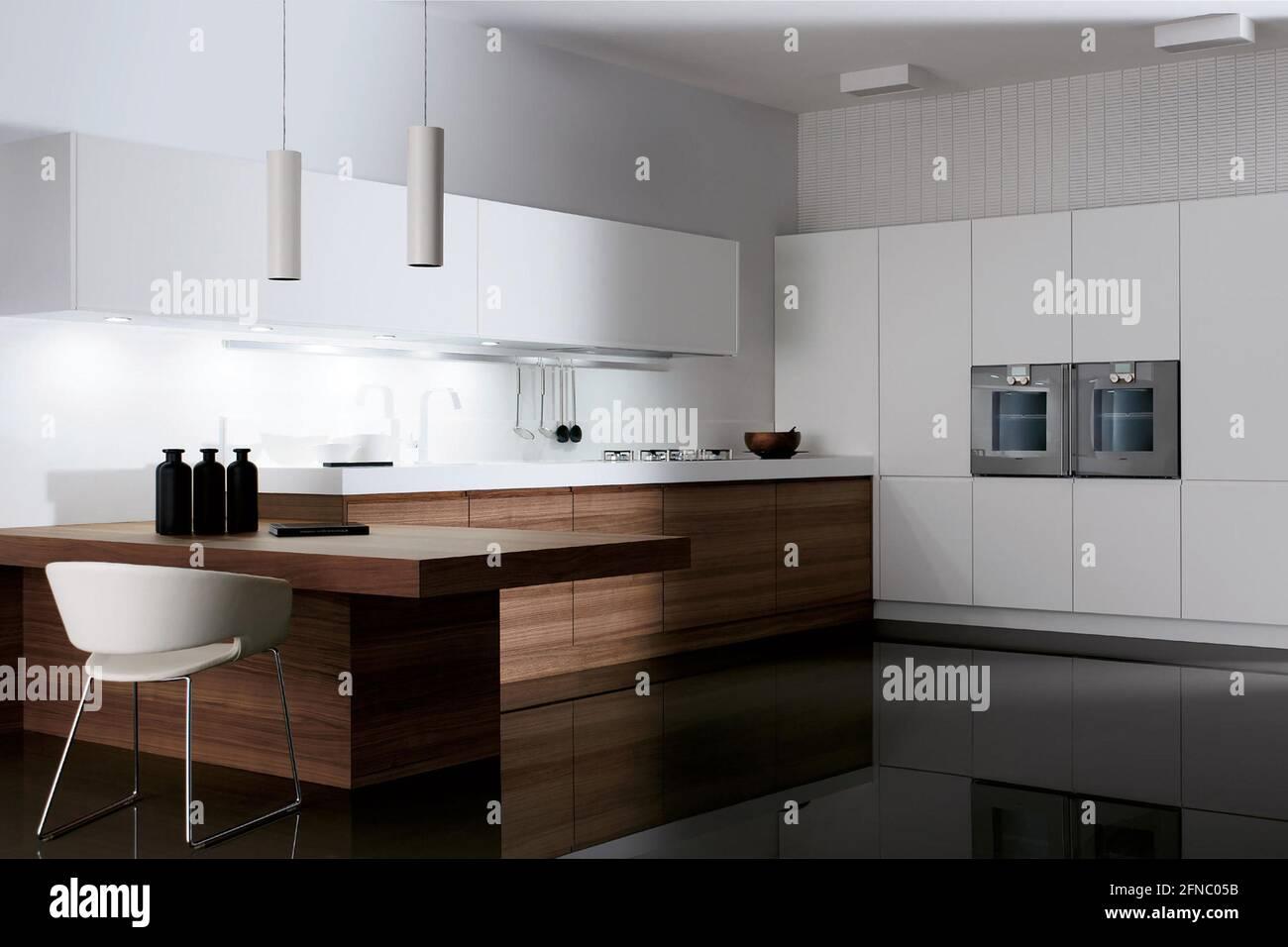 Berlin, Germany – August 20 20 Modern kitchen interior design ...
