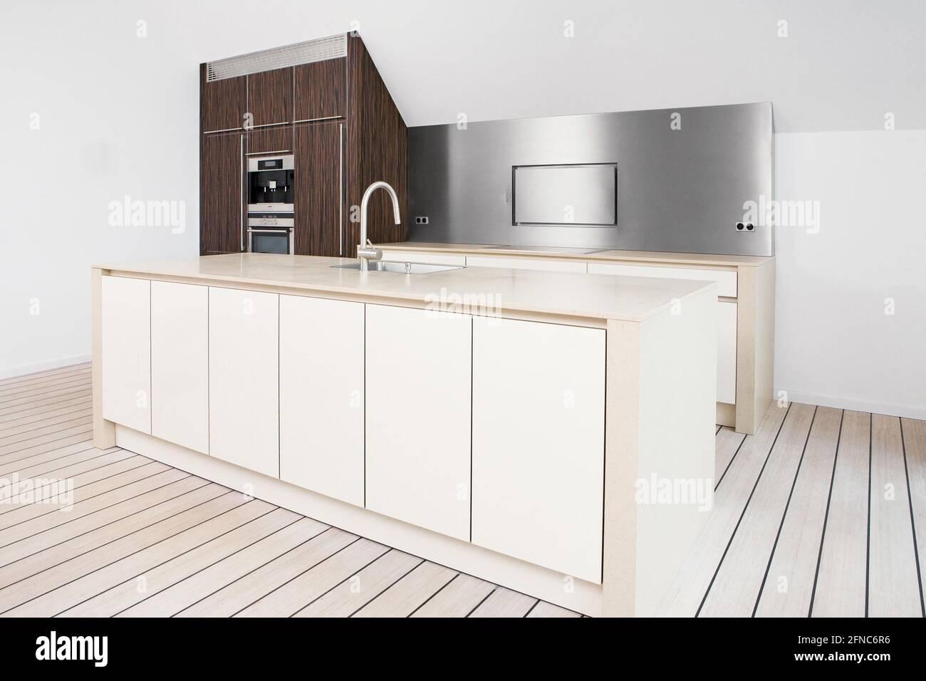 Hamburg, Germany – July 9 209 Modern kitchen interior design in ...