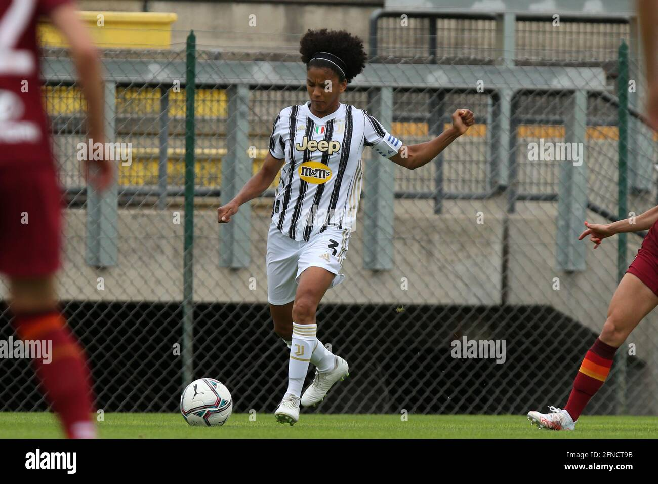 Rome, Italy. 16th May, 2021. Sara Gama (Juventus) during the Serie A TIMvision match between AS Roma and Juventus Women at Stadio Tre Fontane in Rome, Italy, on May 6th 2021 (Photo by Giuseppe Fama/Pacific Press) Credit: Pacific Press Media Production Corp./Alamy Live News Stock Photo