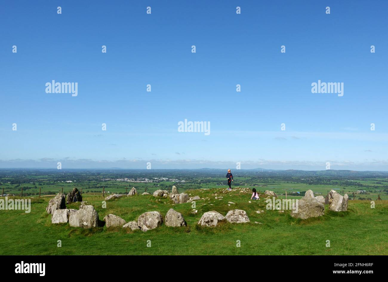 Loughcrews Ancient stones circles, Co Meath, Ireland Stock Photo