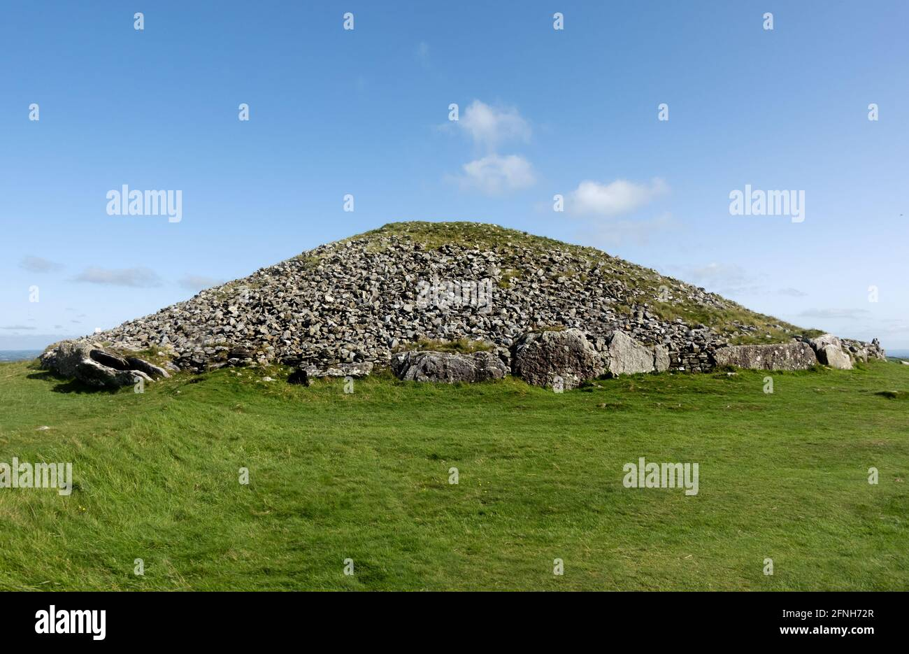 Loughcrews Ancient Passage Tombs, Co Meath, Ireland, The cairn is known locally as The Witches Cave Stock Photo