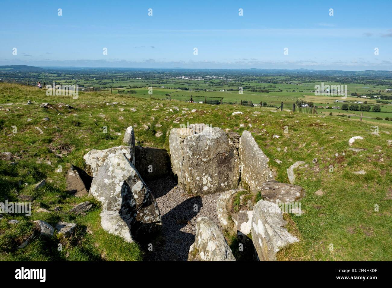 Loughcrews Ancient Passage Tombs, Co Meath, Ireland Stock Photo