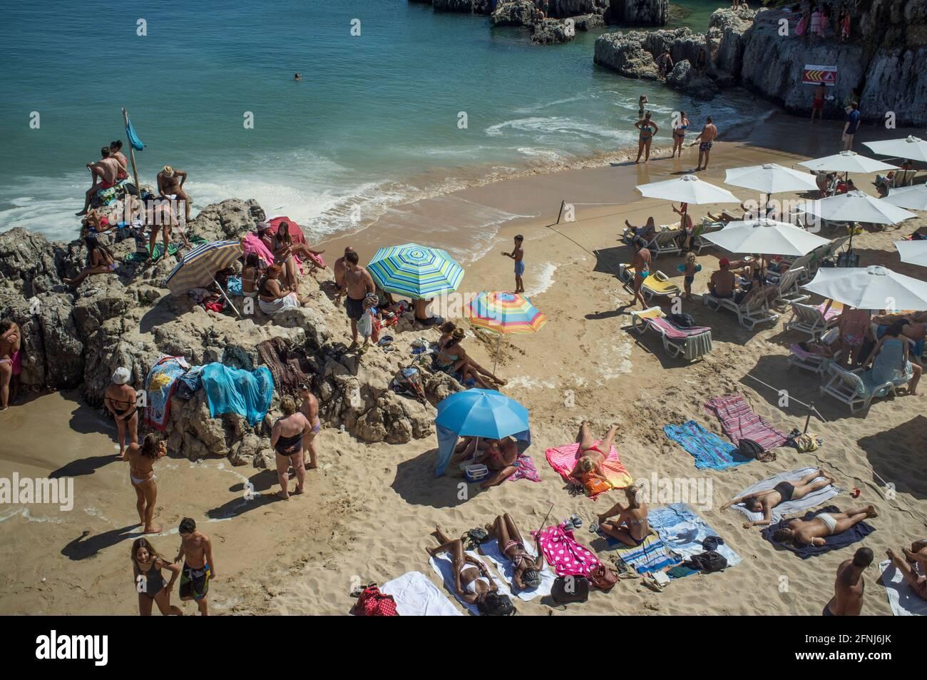 Praia da Rainha, Cascais, b. Lissabon, Portugal Stock Photo