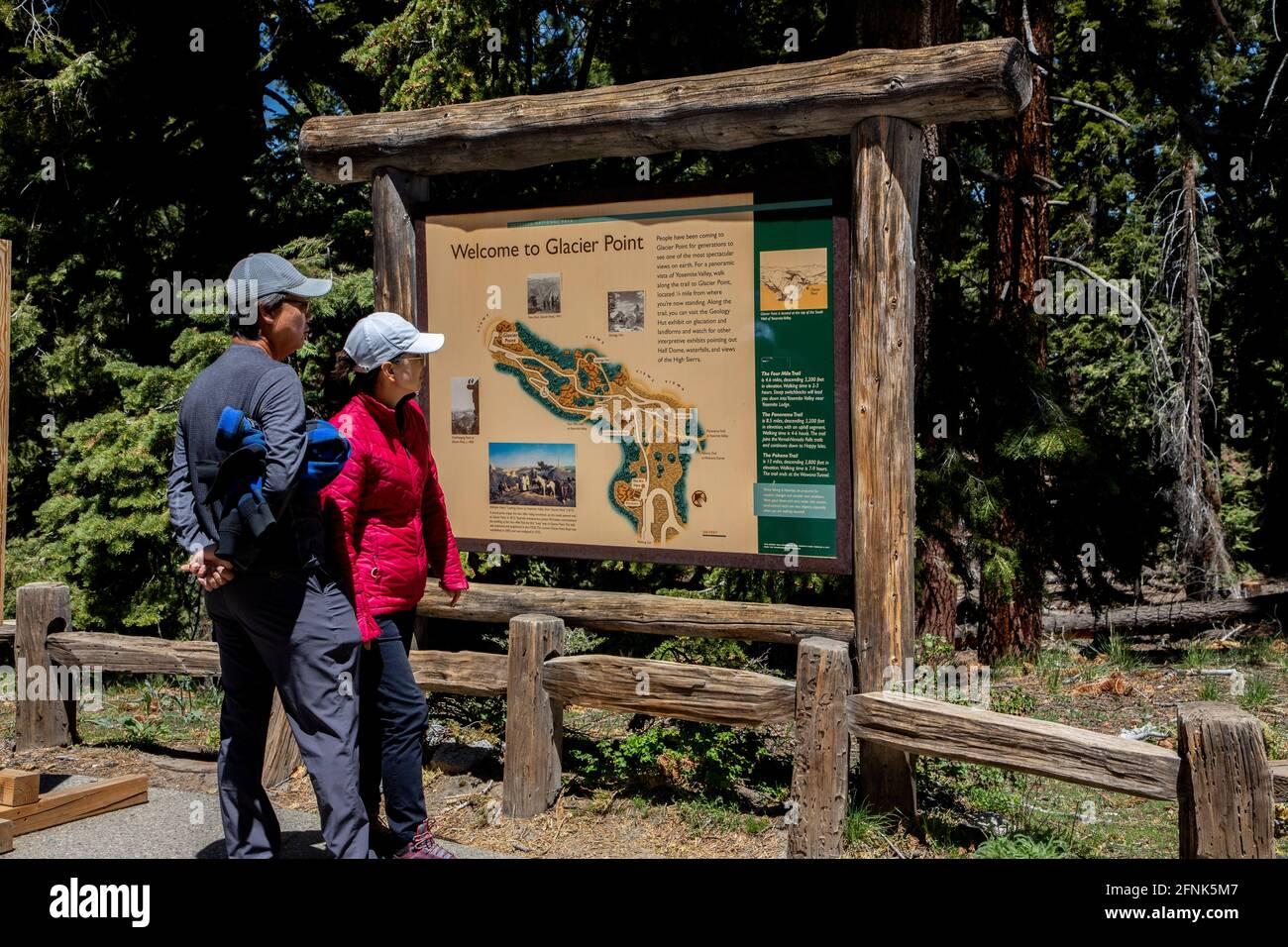 Cartina Yosemite National Park.Yosemite Map High Resolution Stock Photography And Images Alamy